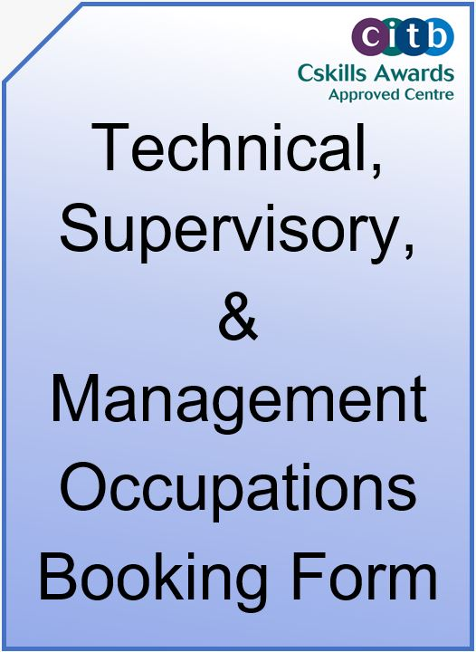 Technical, Supervisory & Management Occupations Booking Form Cover