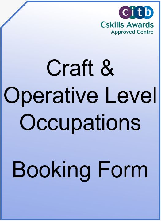 Craft & Operatives Level Occupations Booking Form Cover