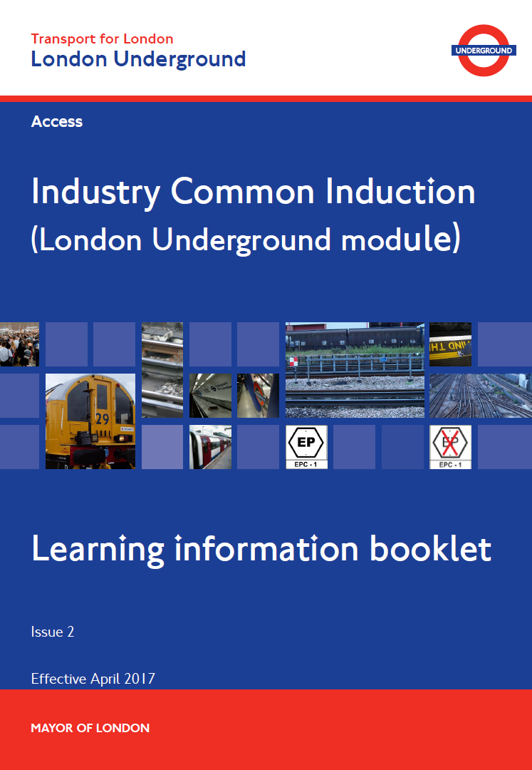 London Underground ICI Booklet Cover