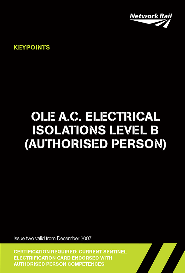 Electrical Isolations Level B (OLE AC) Cover