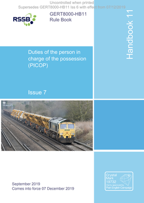 Handbook 11 Duties of the person in charge of the possession (PICOP) Cover