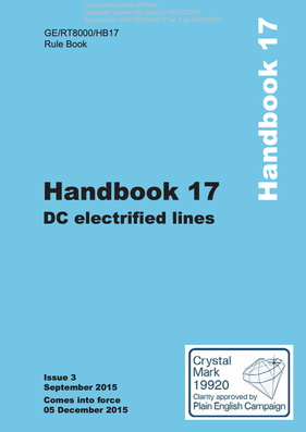 Handbook 17 DC Electrified Lines (Level B) Cover