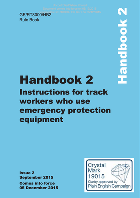 Handbook 2 Instructions for track workers who use emergency protection equipment  Cover