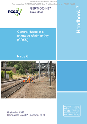 Handbook 7 General duties of a controller of site safety (COSS) Cover