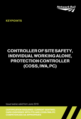 Controller of Site Safety (COSS/IWA/PC) Cover