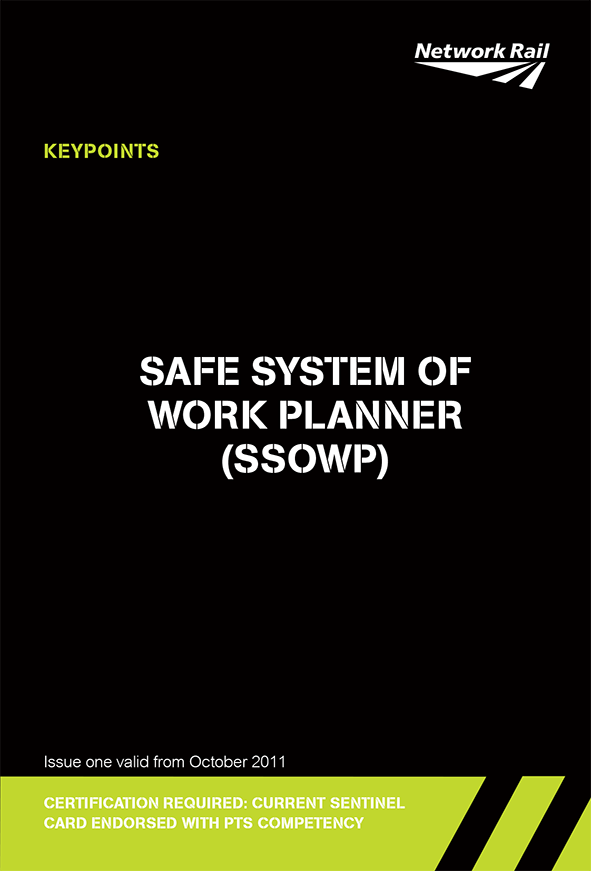 Safe System Of Work Planner (SSOWP) Cover